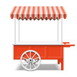 Red farmer's market cart - 66076224