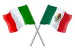 Flags : Italy and Mexico