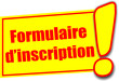 étiquette formulaire d'inscription
