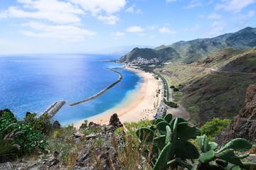 Las Teresitas Beach Tenerife Island Spain horizontal