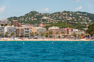 City beach of Lloret de Mar Costa Brava Spain