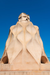 Casa Mila chimneys created by Gaudi