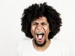 Facial expression of man - screaming