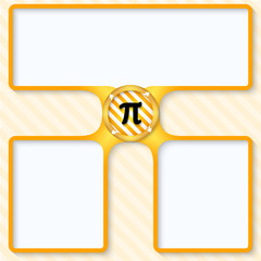 three boxes for entering text with arrows and pi sign