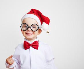 Lachendes Kind zu Weihnachten