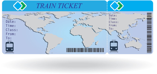 Variant of train ticket
