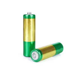 battery aa alkaline cadmium chemical three isolated on white bac