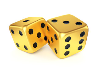 Two golden dices