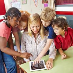 Tablet Computer im Unterricht in der Schule