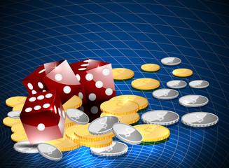 Gamble casino vector background
