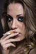 smoke smoking woman cute blondie