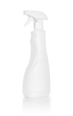 White spray bottle isolated over the white white background