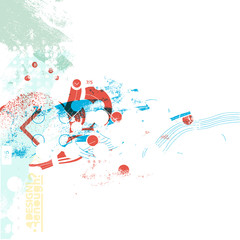 funky splash color design 2 - abstract background