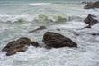 Sea Storm tempest on the rocks