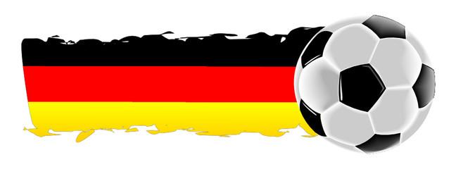 Fußball mit Deutschlandfahne