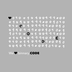 we love code - binary code joke