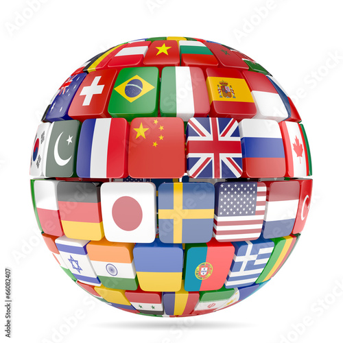 Flags collection sphere