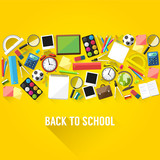 Fototapety Back to school background