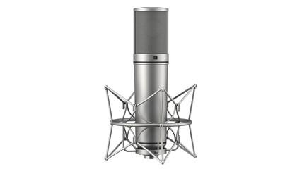 studio microphone loop rotate on white background