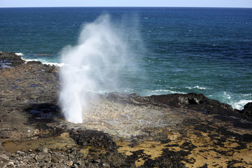 Pacific Ocean Spouting Horn, Hawaii