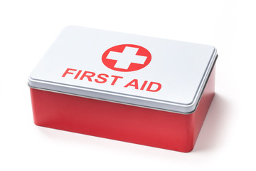 First Aid Kit Box - Stock Photo