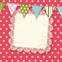 Doily and bunting background