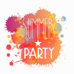 Vector splattered summer party background