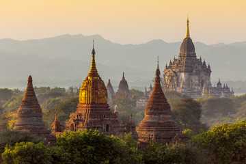 Many temple in Bagan Area , Myanmar.