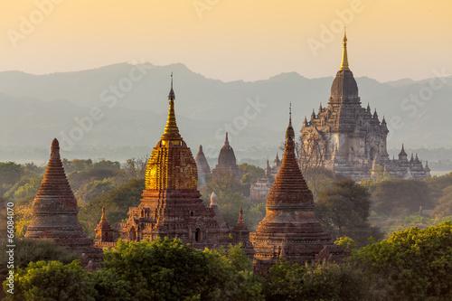 Fotobehang Bedehuis Many temple in Bagan Area , Myanmar.