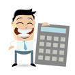 rechnen kalkulieren cartoon taschenrechner