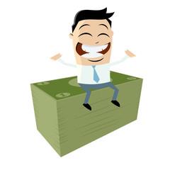 geld geldscheine cartoon business männchen