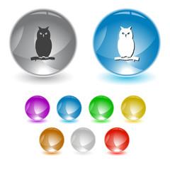 Owl. Vector interface element.