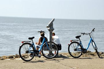 Eine Fahrradpause am Meer