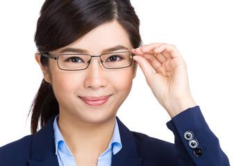 Glasses eyewear businesswoman