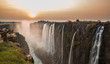 Leinwandbild Motiv Victoria Falls sunset