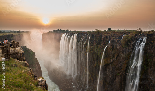 Poster Rivier Victoria Falls sunset