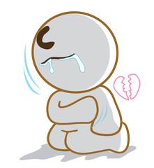 He broken hart and very sad