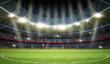 Leinwanddruck Bild - Stadion Mittelkreis 2