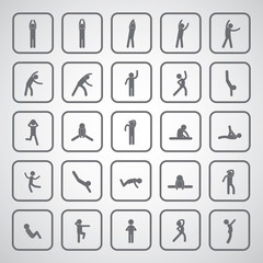 body exercise stick figure icon