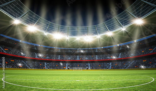 Leinwanddruck Bild Stadion Mittelkreis 2