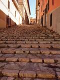 stone steps in old town of Portoferraio - 66089698