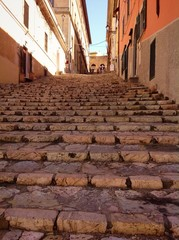 stone steps in old town of Portoferraio