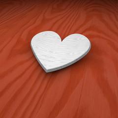 Cuore simbolo amore in legno