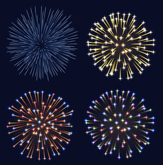 Set of fireworks