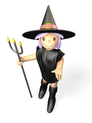 Cute Wizard of Halloween