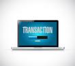 transaction loading bar on a laptop illustration
