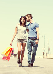 couple and shopping