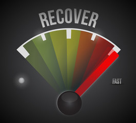 recovery process illustration design