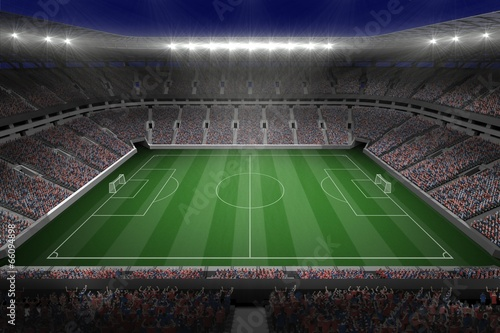 canvas print picture Large football stadium with lights