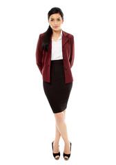 Latin businesswoman isolated